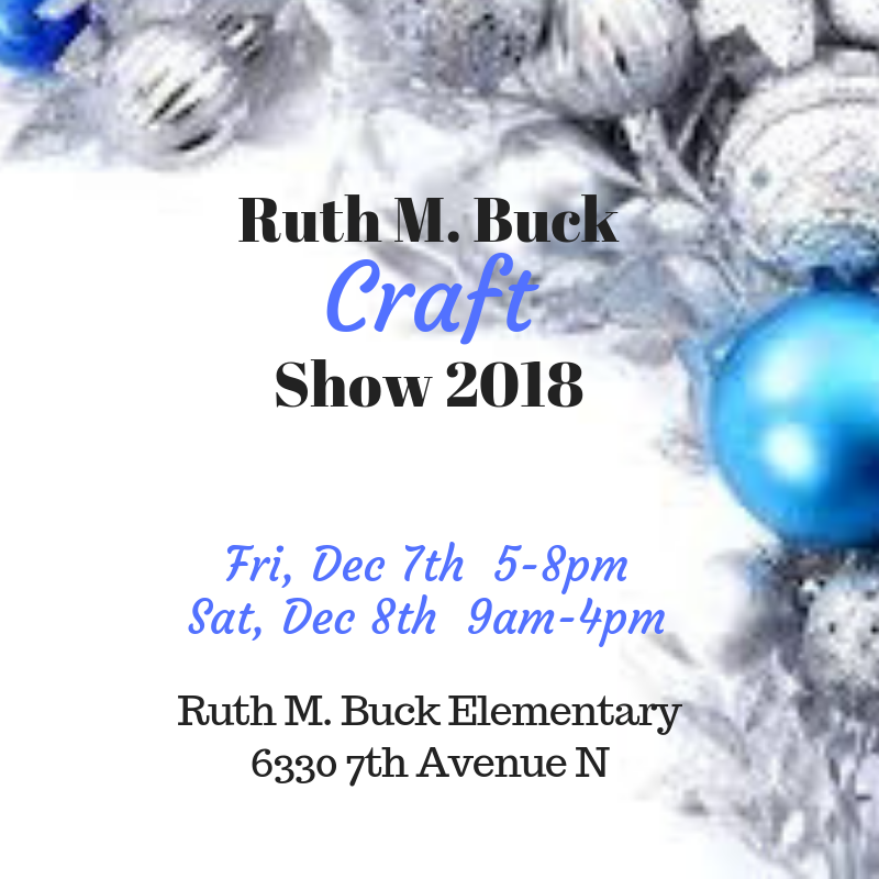 Ruth m buck craft show 2018 dec 7th and 8th for Craft trade shows 2018